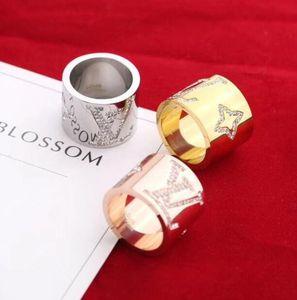 Hot Sale designer Rings Stainless Steel Luxury 18K Gold Plated Lovers Rings Men Women Ring Louìs Vuìttõn Jewelry L rings