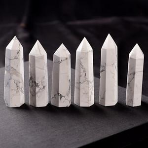 Натуральный бело-бирюзовый кристалл кварцевый башенный кварц точка белый кристалл камень палочка обелиска исцеляющий кристалл