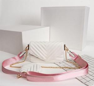 Borse sacchetti di spalla Borse Multi Pochette New Wave Borsa delle donne di marca del sacchetto vestito Three-Piece pacchetto della vita della vera pelle dal design di lusso