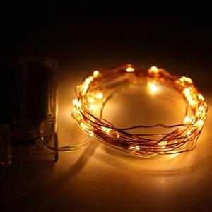 16 .4ft 5m 50 ha condotto Batteria Led Light String 3AA a pile di rame luce leggiadramente della stringa per la festa nuziale di Natale