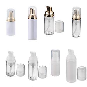 Leere Plastik-HAUSTIER-Reise-Schäumer-Flaschen Handwaschseife Mousse-Creme-Spender Sprudelnde Flasche 30ml / 50ml Clear / White Gold Pump