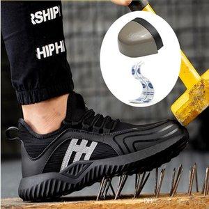 Art und Weise große Stahlkopf Arbeitssicherheitsschuhe und atmungsaktive Schutz Pannenschutz Herrenschuhe Sicherheitsschuhe