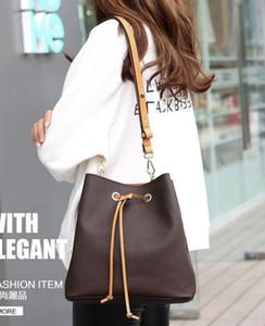 Высокое качество нового женщин плеча кожаные сумки старый цветок ведро мешок Drawstring сумки кошелек Cross Body