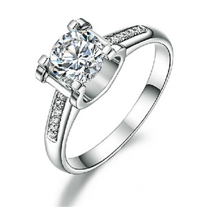 Romance Engagement Ring 1Ct 6.5mm Round Cut G-H Moissanite Diamond Ring 925 Sterling Silver Ring Luxury Quality Jewel