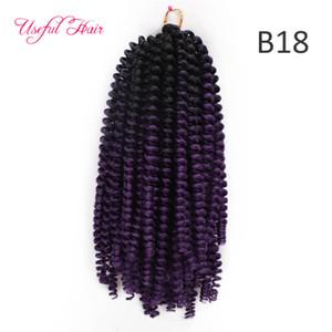 colorful Spring Twist Crochet Braids Hair Extension Ombre Blonde Bouncy Marley Twist Crochet Braids Hair Extensions Ombre Blonde Fashio