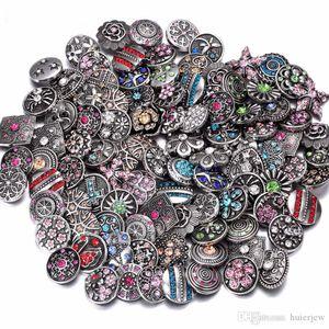 Pulsante a scatto per collana 12mm con strass in vetro zenzero gioielli accessori fai-da-te per bracciali in pelle con ciondoli