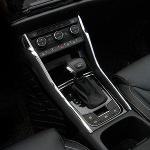 2 pcs ABS Car Center Console Painel de Engrenagem Tampa Lateral Moldagem Guarnição Etiqueta para Skoda Kodiaq Styling Acessórios