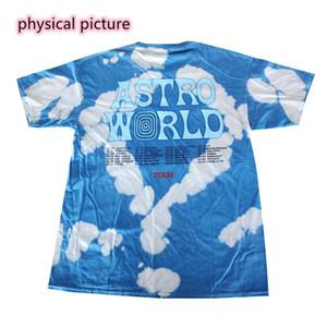 Travis Scott-T-Shirt Anstronaut Astroworld-Tour-Bindung Färben T-Shirt Männer Street Tarnung der Männer Frauen Travis Scott-T-Shirt