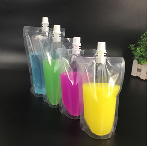 Stand-up plástico Copos de embalagem Bag bico Bolsa para suco Leite da bebida do café líquido de embalagem saco de bebida Pouch bebê alimentação M1923