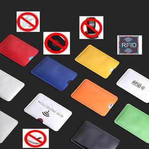 New colorida de alumínio 6.3 * 9 centímetros Anti Rfid Carteira bloqueio Titular Card Reader Bloqueio Banco Id Banco Card Protection Metal Case Credit NFC Titular