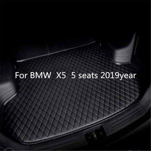 Für BMW X5 5 Sitze 2019year Car s Anti-Rutsch-Trunk Mat wasserfestes Leder Teppich Auto-Kofferraum-Matte Flat Pad