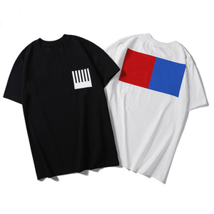 19ss Monogram Harf Geometrik Baskılı Tasarımcı Tişörtlü Moda Yaz Tişörtlü Tee Casual Erkekler Kadınlar Sokak Kısa Kollu HFHLTX024