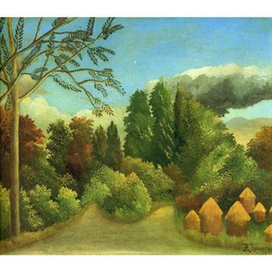 Hand painted Henri Rousseau paintings View of the Banks of the Oise Landscapes modern artwork for office wall decor