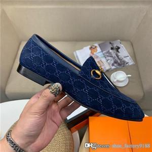 chaussures classiques occasionnels série limitée exclusive givré tissu peau de vache Hommes de mocassins avec des talons bas en cuir et de grandes semelles avec boîte 38-44