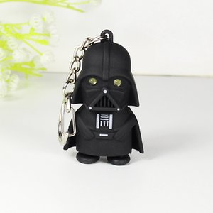 1pcs Black Clothes Plush Keychain Stuffed Lighting Sound Toy Small Pendant Wedding Party Gift Plush Toy A Birthday Present