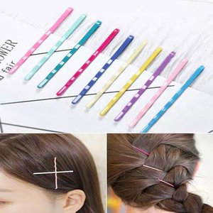 10 Unids / set Pinzas para el cabello coloridas para mujeres Pinza para el cabello Lady Bobby Pins Invisible Wave Hairgrip Barrette Hair Clips Accesorios