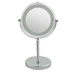 10X Folding LED Makeup Mirror 360 Rotation Flexible Wall Mounted LED Makeup Mirror Makeup Tools Mirror with LED Light Dropship