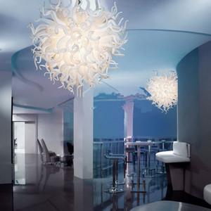 مهب الإيطالية فوير الأبيض الثريا عالية الجودة اليد الجميلة فن الزجاج الكريستال ضوء الثابت للفندق Lobbby