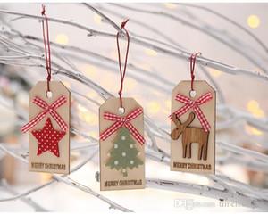 Weihnachtsschmuck Kreative Weihnachtsbaum Holz Tag Anhänger Weihnachtsbaum Anhänger Schmuck Weihnachten patry Geschenke Freies Verschiffen