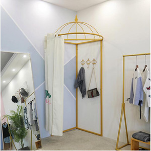 Temporary mobile fitting room clothing store floor portable fold simple changing room changing room Fitting rooms of clothing store