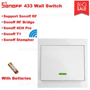 저렴한 스마트 원격 제어 Itead Sonoff RF 433 무선 (86) 벽 스티커 스위치 원격 컨트롤러에 대한 Sonoff T1 RF 브리지 4CH 프로