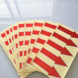 2000pcs 8.5x3cm freccia rossa, argento durevole materiale PET, etichetta adesiva autoadesiva, Articolo no GU18