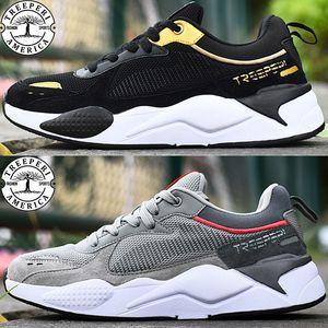 2.0 grueso negro de zapatos ocasionales de oro gris metálico de color caqui carmesí de moda de lujo de los hombres de color amarillo treeperi las mujeres del diseñador nos zapatillas de deporte 5,5-10