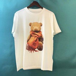 2020 Luxury Fashion Designer Europe Italy 3D Scarf Bear Toy Doll Tshirt Men Women T Shirt Casual Cotton Tee Top