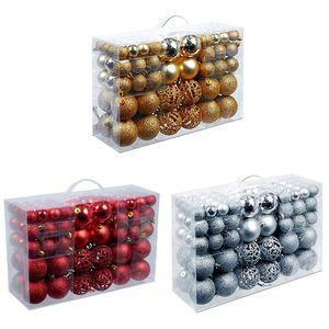100Pcs Box Christmas Ball Box Set Available Lightweight Holiday Christmas Tree Ornament Decorations