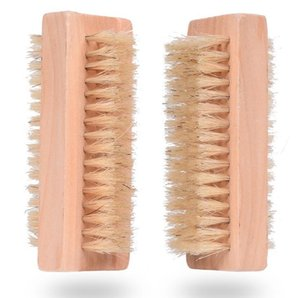 Hot selling Double-sided Boar Bristles brush Natural pig Bristles Cleaning Brush Wooden massage brush SN781