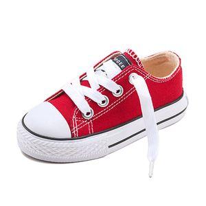 Mädchen-Segeltuch-Schuhe Soild Kinderschuhe Casual Junge Turnschuhe für Kleinkind Baby 2017 Klassische Segeltuch-Schuhe Breathable High Quality