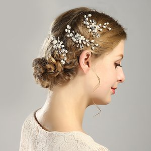 Bridal Hair Bun Gold and Silver White Pearl Hair Bun Bridal Wedding Accessories Bridal Wedding Tiaras Stunning YD0146