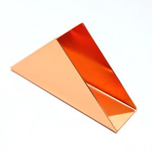 Métal Couverture Tissue Box Triangle - Mouchoirs Box Case Holder Distributeur, papier en acier inoxydable Porte-serviettes pour salle de bains meuble-lavabo