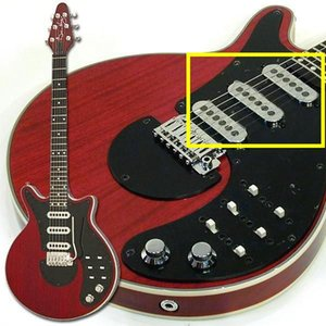 Custom Guild BM01 Brian May Signature Pastillas de guitarra eléctricas rojas 3 pastillas ROHS de Chrome Made In Korea Allguitar outlet de fábrica
