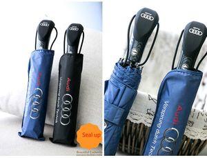Neue Ankunft Audi Big Umbrella Regen Damenmode Übergröße Schwarz Und Blau Sonnenschirme Winddicht T8190619