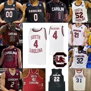 Personalizzato South Carolina Gamecocks Jersey di pallacanestro NCAA College Alex English A.J. Lawson Jermaine Couisnard Maik Kotsar Bolden Minaya Winters