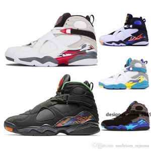 New 8 3m Reflective 8s Basketball Shoes Valentine S Day Three Peat Raid Chrome White Aqua Sports Shoes Outdoor Fashion Sneakers 41 -47