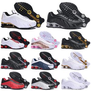 Nike Air Shox R4 OG 301 Мужчины Женщины Кроссовки Тройной Черный Белый Черный Серый Серебристый Синий Оранжевый Мужские спортивные кроссовки для женщин 36-46