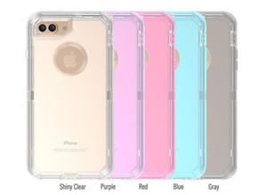 Phone Case trasparente 3in 1 antiurto Bumper acrilico ibridi casi Defender duro della copertura nuovo per iPhone Pro 11 MAX XR 7 Samsung S10 più