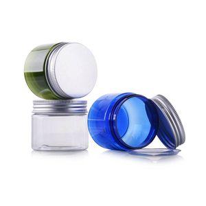 50g 50 ml de plastique vide Crème rechargeable à la crème faciale de maquillage de maquillage de maquillage de maquillage Cônier Cosmetic Jars Pot avec tapis en PVC et couvercle en aluminium en argent