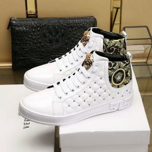 Yüksek top erkek ayakkabıları yüksek kaliteli rahat ayakkabılar 38-45 tasarımcı klasik tarzı erkek ayakkabıları patlama modelleri sıcak (kutu ile)