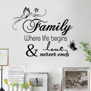 FamilyLife 견적 벽 스티커 데칼 비닐 아트 편지 이동식 벽화 홈 인테리어 가정을 인쇄