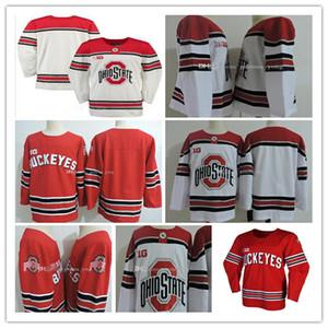 Мужской штат Огайо Buckeyes хоккей 3 Саша Larocque 72 Dakota Joshua 26 Mason Jobst 7 Wyatt Эге 30 Sean Romeo Вышивание NCAA Джерси