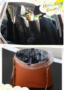 2018 Novo estilo de carro saco de lixo acessórios de couro modificado para Mitsubishi ASX Outlander Lancer Colt Evolução Pajero Eclipse