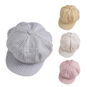 Nouveau mode Beret Femme Flat Cap Automne Hiver Printemps chapeaux pour femmes Octogonale Cap Painter Chapeau vintage Angleterre Artiste Plaid