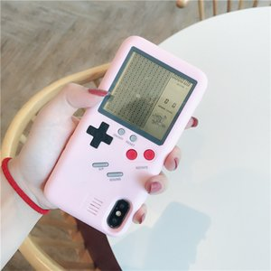 Tetris girl heart game PC hard shell protector Applicable iPhoneX mobile phone shell creative electronics have a variety of options