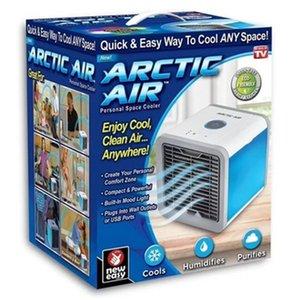 USB tragbare Klimaanlage Schreibtisch ohne Blatventilator neuen Mini-Quadrat Luftkühler mit kleinen Nachtlicht