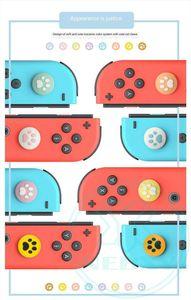 Sevimli Kedi Pençesi Silikon Kaymaz Cap Vaka Başparmak Nintendo Anahtarı Joy-con için Kapak Analog Thumb Çubuk Joystick Caps Sapları ve Lite / Mini geçin