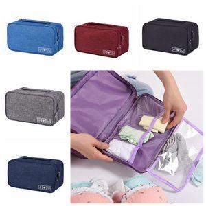 Portable Bra Underwear sacchetto impermeabile di immagazzinaggio dei calzini di viaggio cosmetici cassetto organizzatore armadio guardaroba di vestiti Pouch CCA11860-C 100pcs