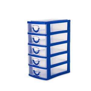 Практическая Съемные DIY Desktop Jewelry Box хранения пластиковые ящик для хранения ювелирных изделий Организатор Holder Шкафы для малых объектов T200117